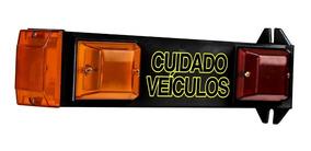 Sinalizador Cuidado Veiculo Sinaleira Led Garagem - Preto