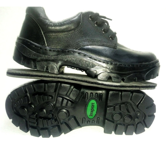 Zapato Trabajo Seguridad Cuero Caucho Krapert Art 100 Ne