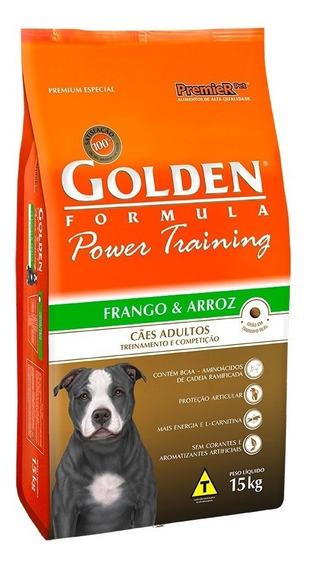 Ração Golden Power Training Frango E Arroz Cães Adultos 15k