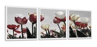 Quadro Tulipa Grande 180x60 Para Sala Quarto Corredor Hall