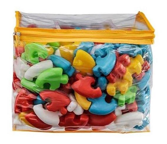 Sacolão Encaixes Com 90 Peças - Brinquedos Anjo