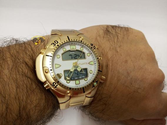 Relógio Atlantis A3154 Aqualand 1060 Citizen Serie Ouro Gr B