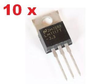 10 Lm1117 Lm1117t Regulador Tensao 3.3v To220 Pra Esp8266 Atacado Varejo Componente Chave Interruptor Resistor Led Wifi