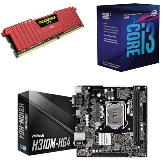 Kit Intel I3 8100 + Asrock H310m Hg4 + Vg 8gb 2400