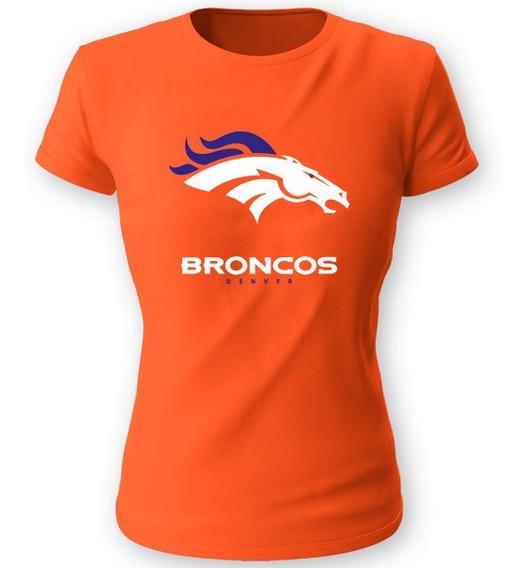 Playera Koyi 710 Nfl Denver Broncos Talla S M L Xl Dama