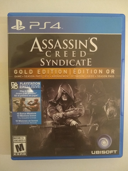 Assassins Creed Syndicate Ps4 - Fisico / Usado