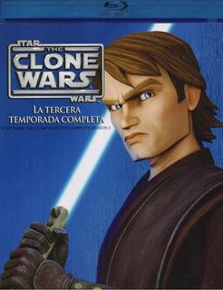 The Clone Wars Guerra Clones Tercer Temporada 3 Tres Blu-ray