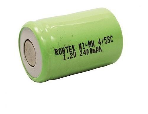 Pilha Recarregável Nimh 1,2v 2400mah 4/5sc S/top - Rontek