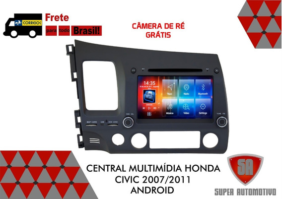 Central Multimídia New Civic 2007/2011 Android