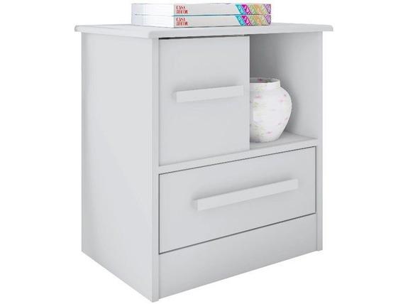 Criado Mudo Com 1 Porta Stilo Branco - Lc Móveis