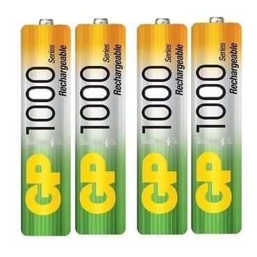 Baterias Recargables Aaa Gp Nimh 1000mah Pack De 4