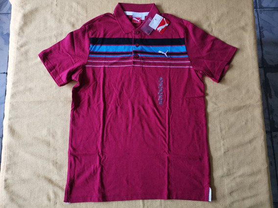 Playera Polo Puma New Color Block Polo Rio Red Talla Chica