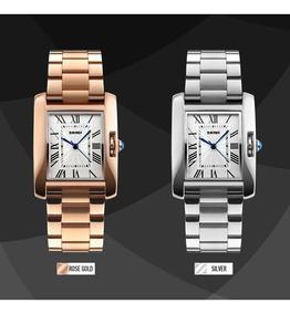 Skmei Relógio Feminino Quadrado Modelo 10284 À Prova D