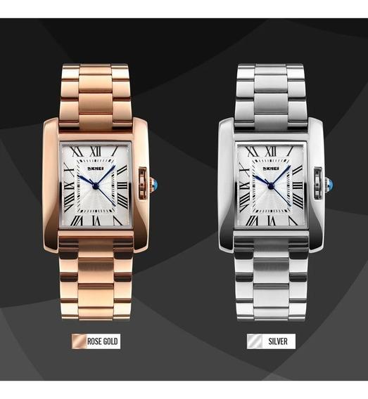Relógio Feminino Quadrado Skmei Modelo 10284 À Prova D