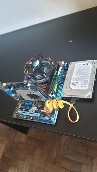 Kit Computador Placa-mãe, Processador, Memoria Ram, + +