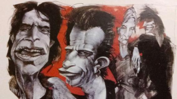Postal The Rolling Stones 1999 Caricaura Famoso Artista