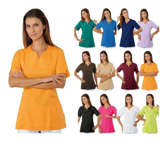 Conjunto De Uniforme Unisex Pantalon Y Filipina 12 Camaril5