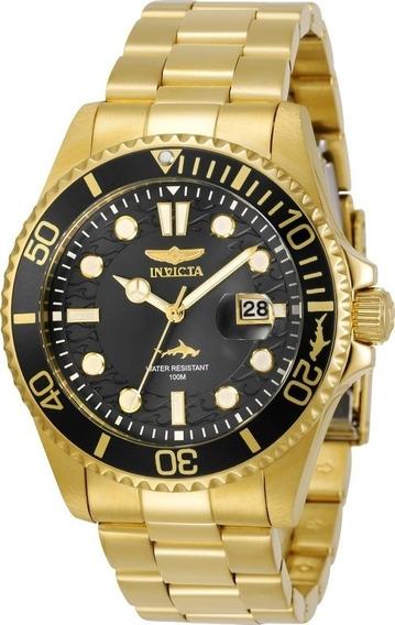 Relógio Invicta Pro Diver 30026 - Dourado 18k - Original