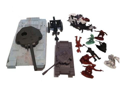 Soldaditos  Plasticos 2 Tanques Y 1 Cañon 01 V Crespo
