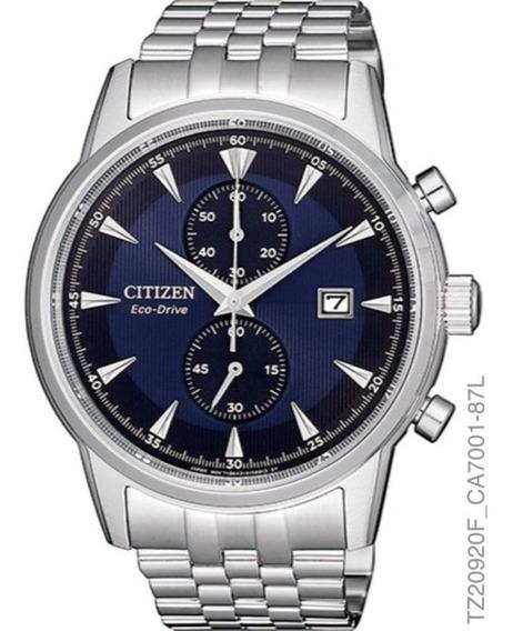 Relógio Masculino Citizen Tz20920f Eco-drive Prata Fundo