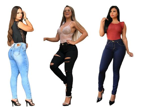 Kit 3 Calças Jeans Feminina Skinny By Bellatotti