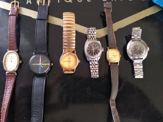 Lote/coleção Com 6 Relógios Femininos: Pierre Cardin, Casio