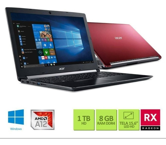 Notebook Gamer Acer Aspire 5 8gb 1tb Rx540