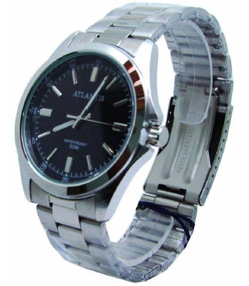 Relógio Unissex Atlantis Pulseira Aço Analógico