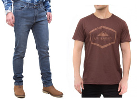 Kit Calça Jeans Stone E Camisa Marrom All Terrain Atr Casual