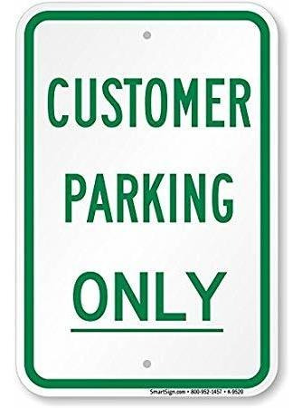 Sólo Estacionamiento De Los Clientes Sign De Smartsign | 1