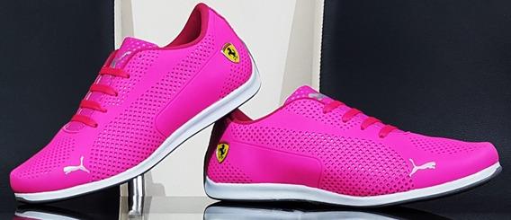 Tenis Tipo Puma Dama/caballero Ferrari Suéde Match Bmw Rs X