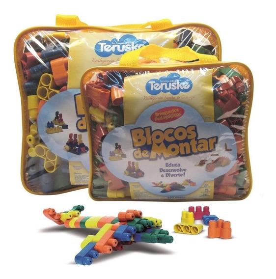 Lego De Montar Plugando Brinquedo Pedagógico 1000 Peças