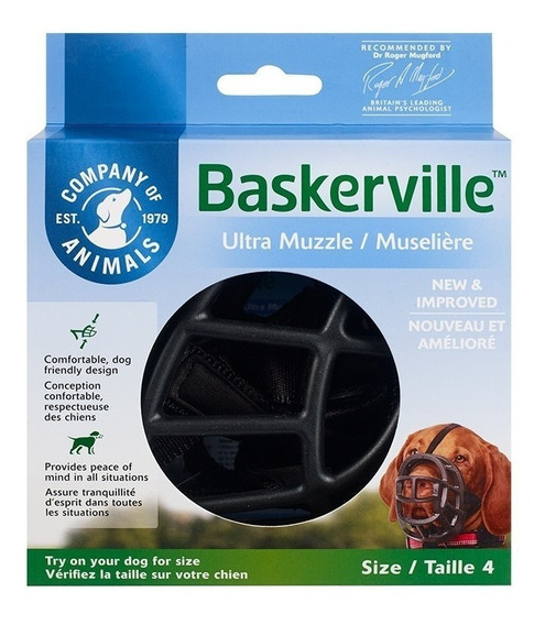Baskerville Ultra Muzzle Grande Focinheira Cachorro Numero 4