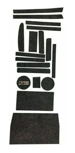 Jogo Tapete S10 2004 A 2011 Porta Objeto Copo Kit Forro
