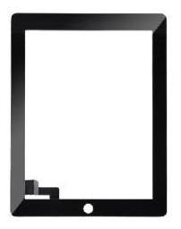 Vidro Tela Touch Screen iPad 2 Compativel Preto / Preta