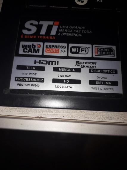 Notebook Sti Pentium Duo Core 320gb Com Tv Digital Bluetooth