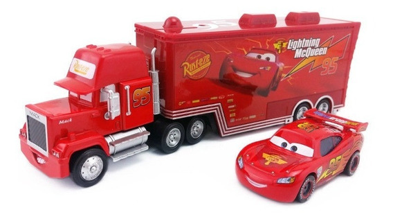 Miniatura Carros Disney Mc Queen E Mack Pronta Entrega