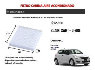 Filtro Aire Acondicionado Cabina Suzuki Swift D-zire