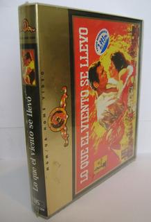 Lo Que El Viento Se Llevó Vhs Box Set 1990 Colección Único!