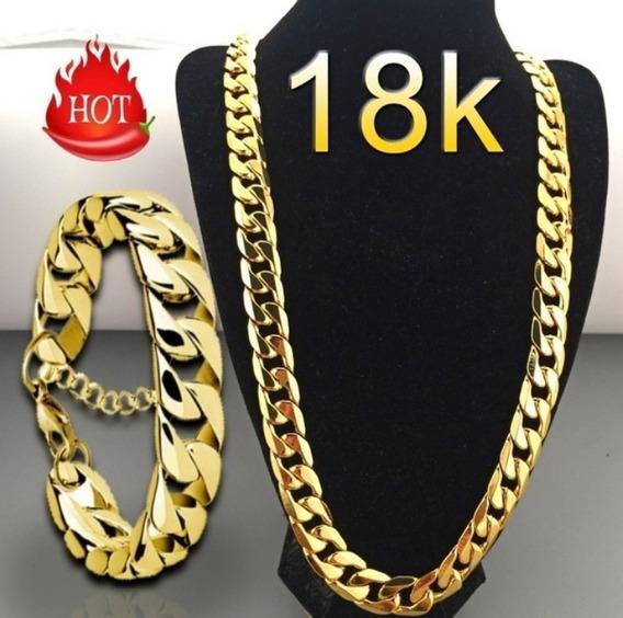 Fashion Luxury Collar Enchapado En Oro Amarillo De 18k