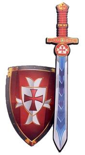 Espada Con Escudo De Guerrero De Goma