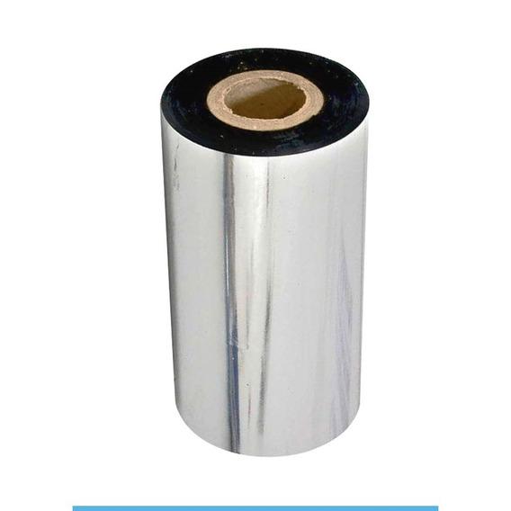 Ribbon De Cera Impressora Zebra Gc420t 110x74 C/ 12 Unidades