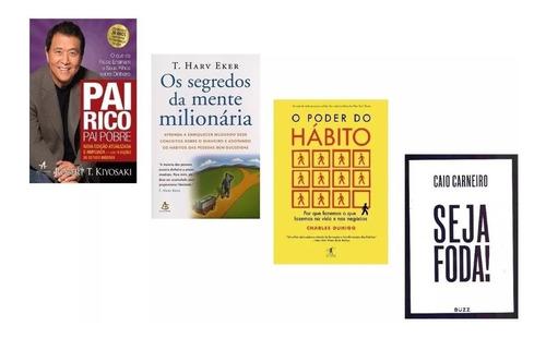 Kit Pai Rico Pai Pobre Segredos Mente Poder Hábito Seja Foda