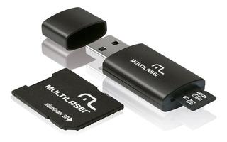 Cartão Micro Sd Multilaser Mc113 32gb Com 2 Adaptadores