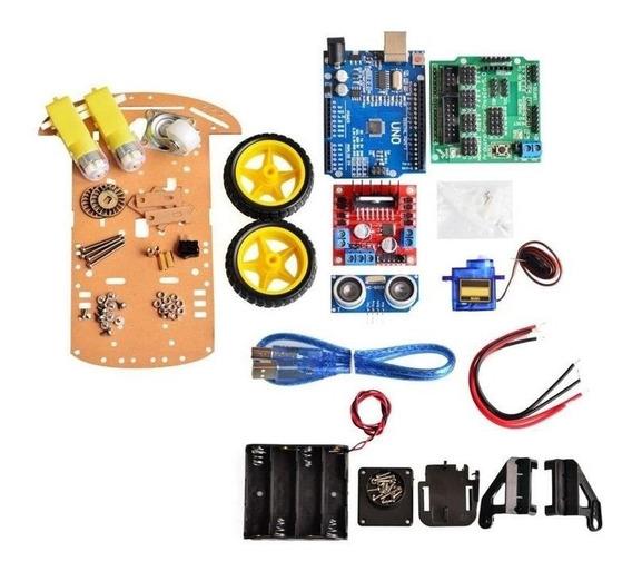 Kit Robô Segue Faixa - Arduino - Chassi 2wd