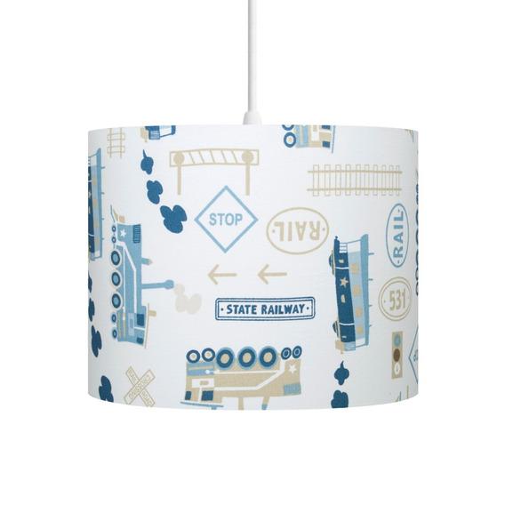 Luminária Pendente Infantil Piuí Trenzinho Azul Carambola