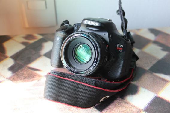 Canon T3i Com Lente 50mm Frete Grátis E Sem Juros