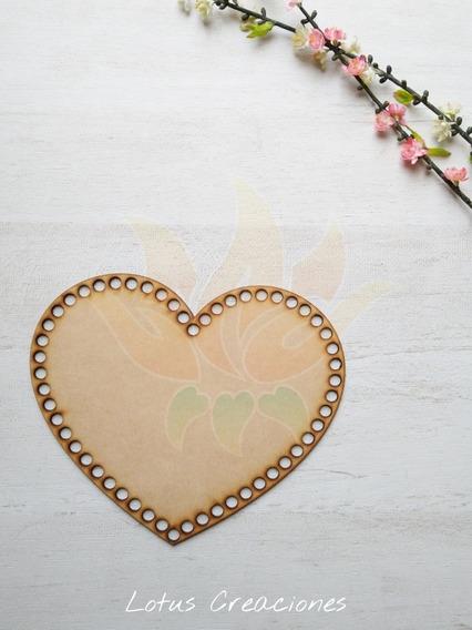 Bases Para Totora Corazón 15cm Mdf -corte Láser-