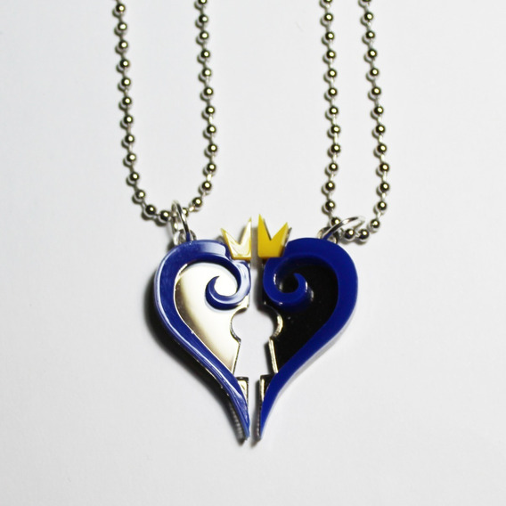 Collares Kingdom Hearts Acrilico Amor O Amistad