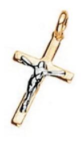 Pingente Rommanel Cruz Com Cristo Em Rhodium (540819)